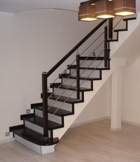 Proste schody z drewna